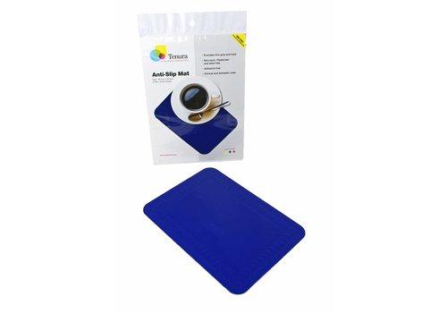 Anti-slip matten rechthoekig - L 25,5 x B 18,5 cm blauw
