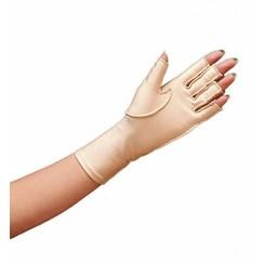Oedeemhandschoen halve vingers over de pols - Links XS