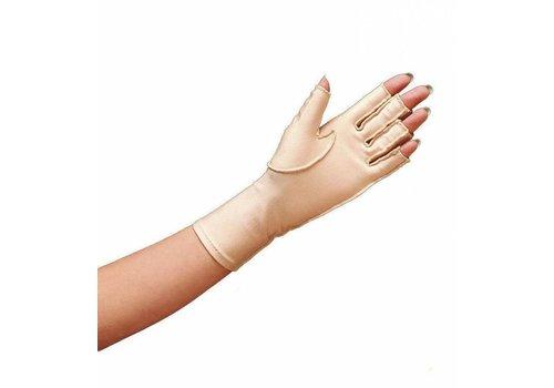 Oedeemhandschoen halve vingers over de pols - Links S