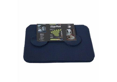 Placemat en onderzetter set - donkerblauw