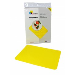 Anti-slip matten rechthoekig - L 35,5 x B 25,5 cm geel