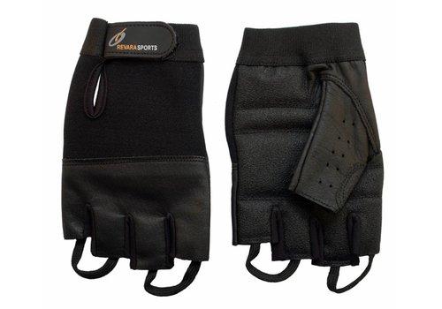 Lederen zomer handschoenen - S