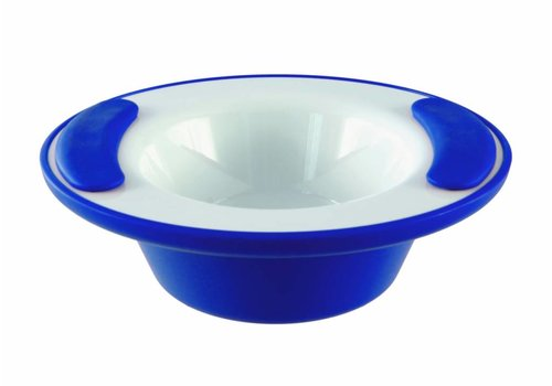 Warmhoudkom - wit blauw
