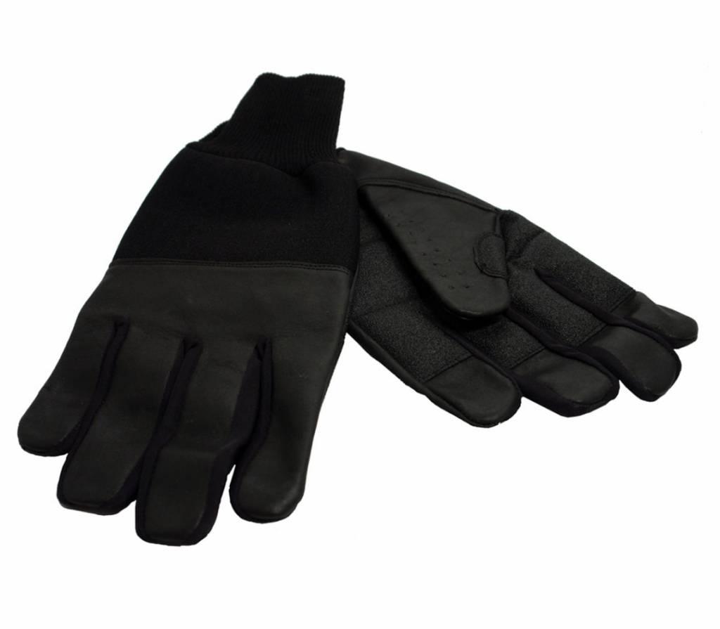 Lederen winter handschoenen - L