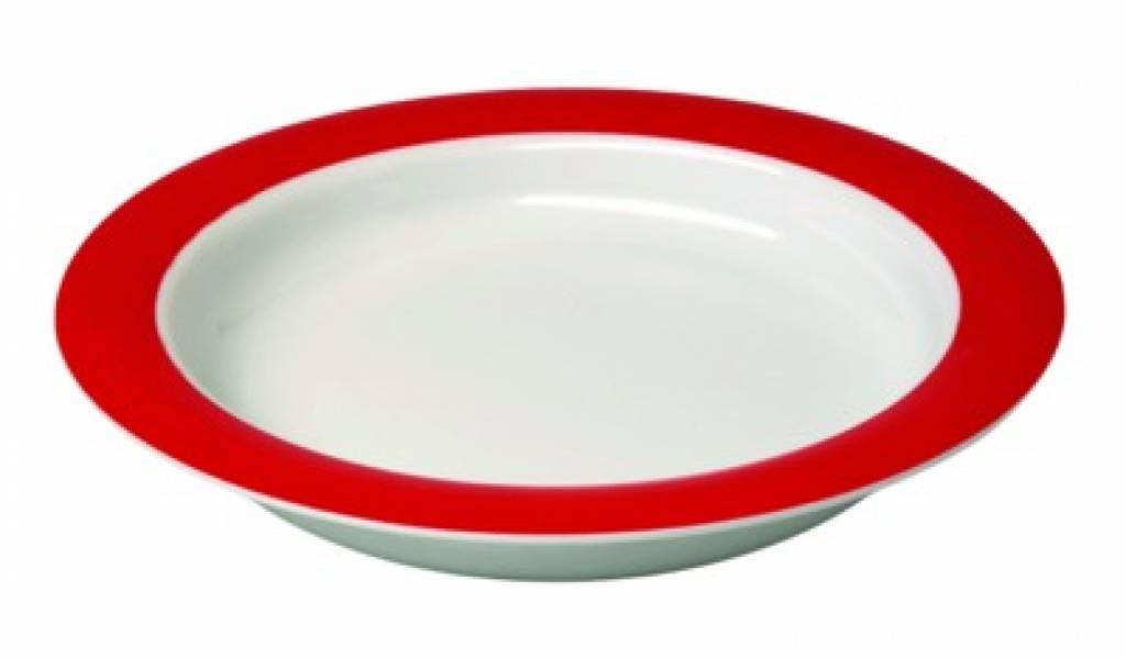Bord - klein wit/rood