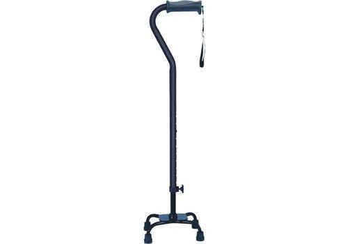 Vierpoot wandelstok verstelbaar - klein - zwart