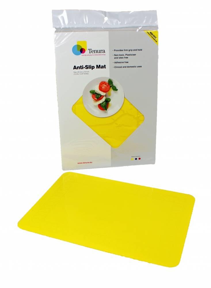 Anti-slip matten rechthoekig - L 45 x B 38 cm geel