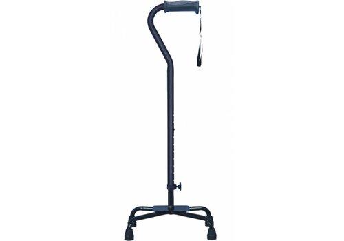 Vierpoot wandelstok verstelbaar - groot - zwart