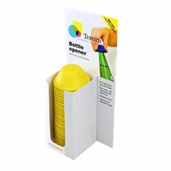 Anti-slip flesopener - flesopener geel display 25 st.
