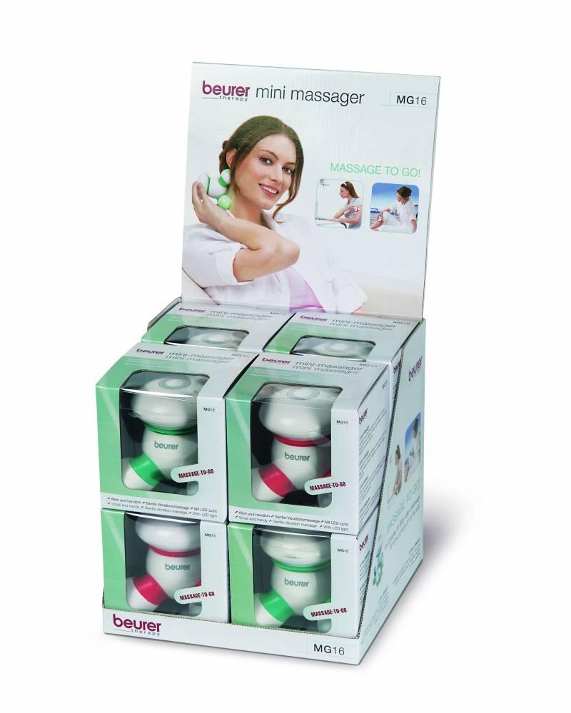 Gemengde mini massage set MG16 - 4 x rood + 4 x groen