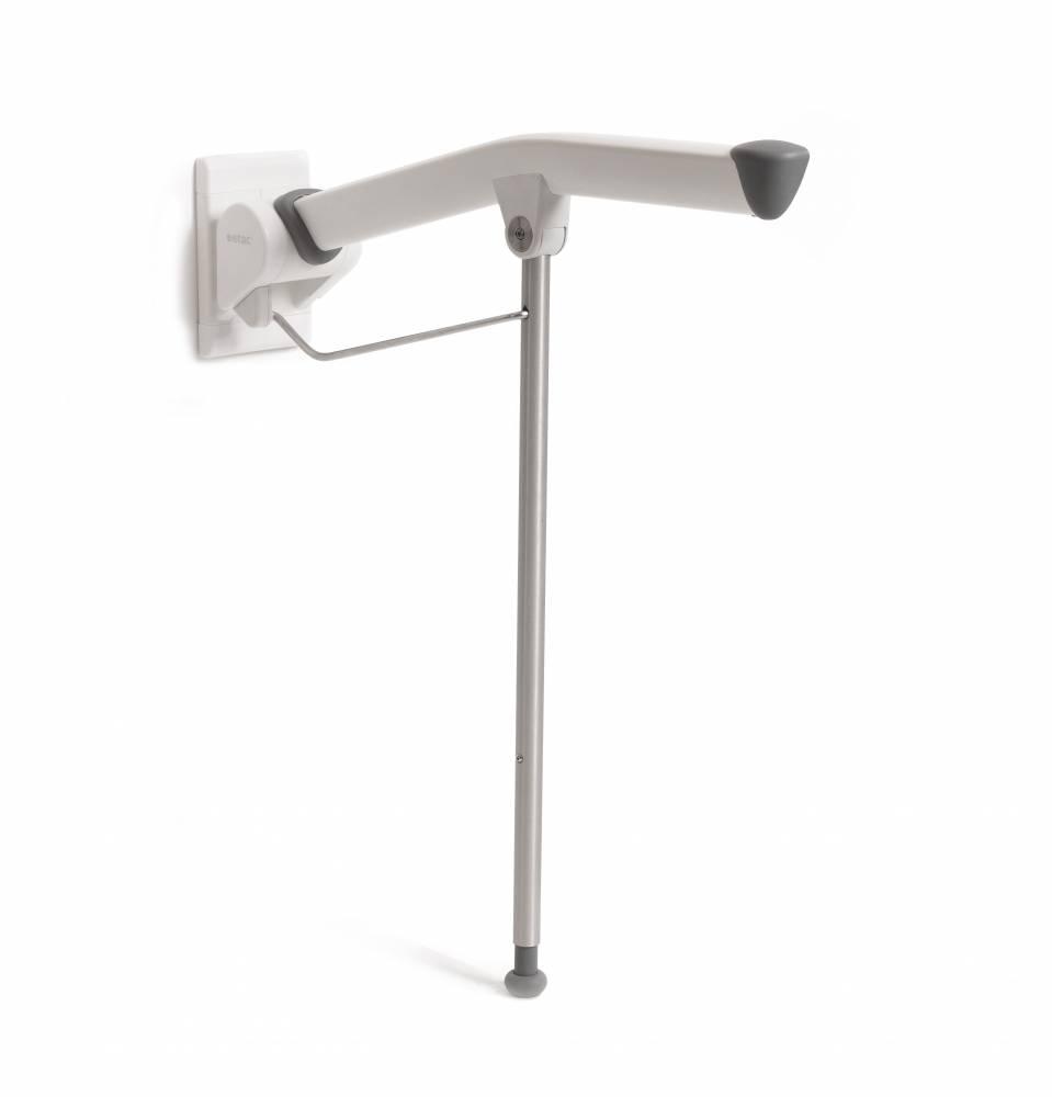 Rex toiletarmsteun - met steunpoot, 85 cm