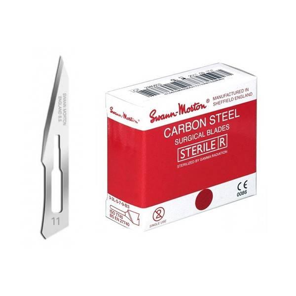 100x scalpelmesjes 11 steriel