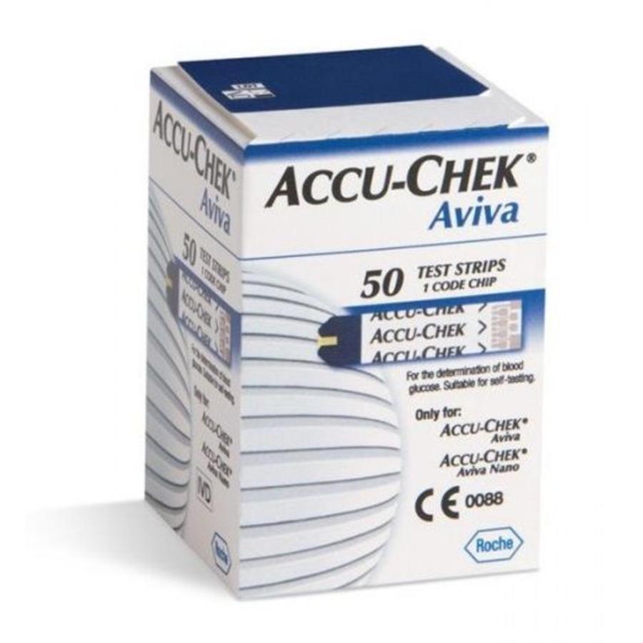 Aviva teststrips voor bloedsuiker meting 50 strips
