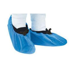 Schoenovertrek blauw  (100) zware uitvoering