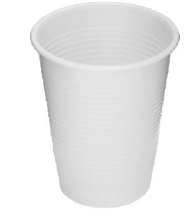 100 Plastic witte multipurpose bekers 200cc
