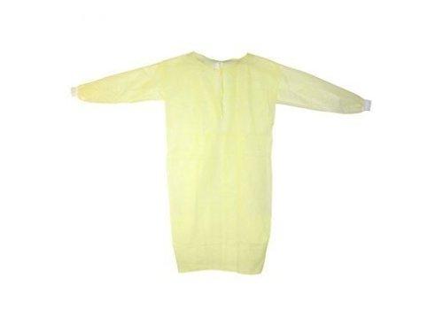 Labjas geel PE laminaat MRSA beschermend 10st.