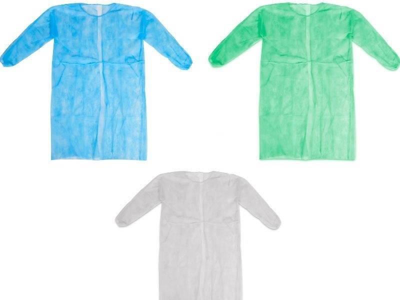 10x bezoekersjassen latexvrij - non woven met koord