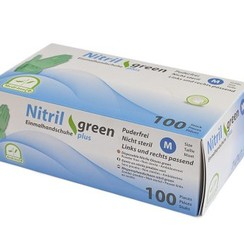 Groene nitril handschoenen Plus extra dik 100x