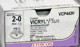Vicryl Plus VCP443H 2-0 FS1 hechtdraad pak/36st