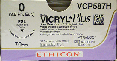 Vicryl Plus VCP587H FSL hechtdraad pak/36st
