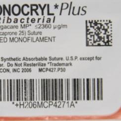 Monocryl Plus 2-0 MCP4443H FS-1 MONOFIL 36st