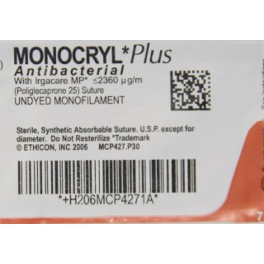Monocryl Plus 2-0 MCP4443H FS-1 70cm p. pakje a 36st UNGEF MONOFIL