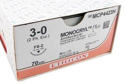 Monocryl Plus 3-0 MCP4423H FS-2 70cm p. pakje a 36st