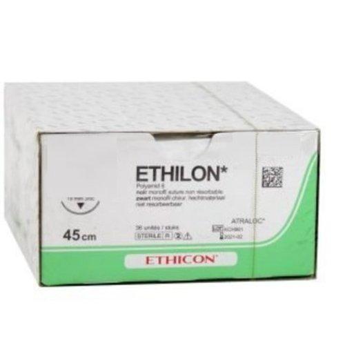 Ethicon 697H ETHILON ZWART MONOFIL 6-0  met P1 PRIME naald  met hechtdraad(mtr) 0,45 36st/pak