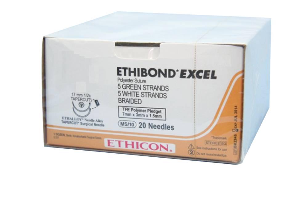 Ethicon EH7346H ETHIBOND EXCEL GROEN GEVL 3-0  met FS2 naald  met hechtdraad(mtr) 0,45 36st/pak