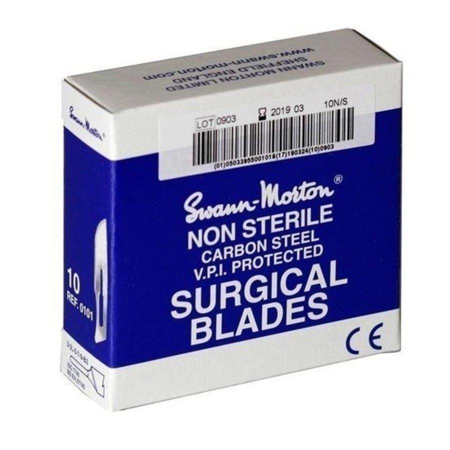Nr 23 mesjes niet-steriel blauw