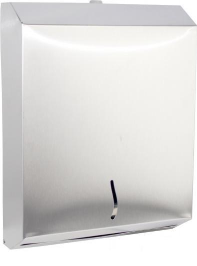 RVS dispenser voor 400 Z-vouw papieren handdoekjes