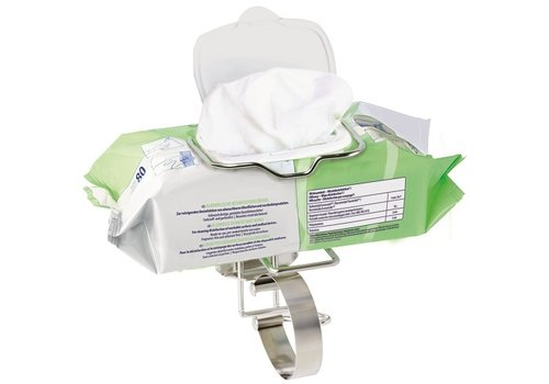 Flowpack wandhouder voor oa Bacillol wipes