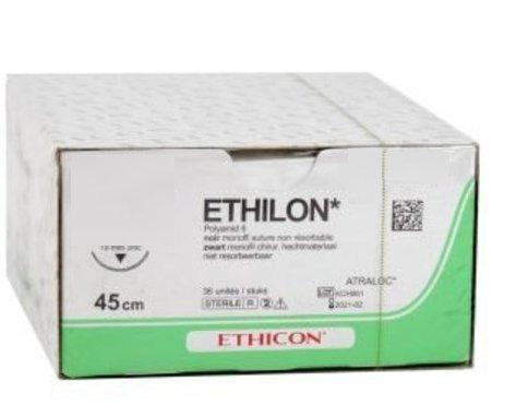 EH7145H ETHILON ZWART FS2 4-0 45cm