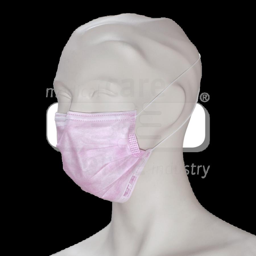 Roze mondmaskers TypeII 3 laags oorbandje