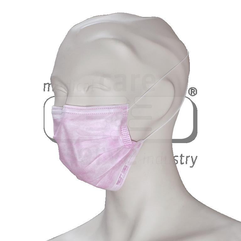 Roze mondmaskers Type2 3 laags oorbandje