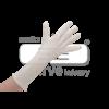 Extra lange 35cm katoenen handschoen