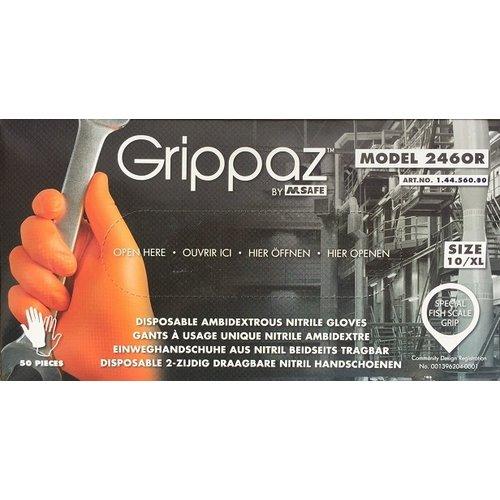 Grippaz Oranje 246OR Nitril Grippaz 10x 50 st.