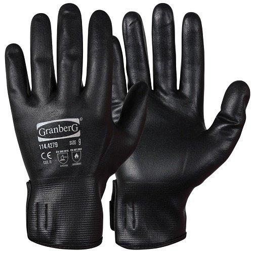 Granberg Nitril zwarte waterdichte en hittebestendige zomer handschoen per paar