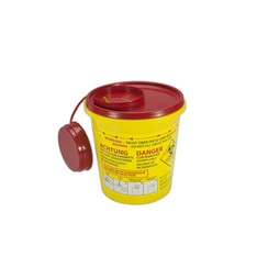 Naaldencontainer 1,5 liter UN 3291 per 1 stuk