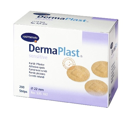 Dermaplast  Sensitive injectiepleisters rond 22mm spots