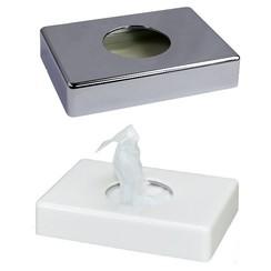 Damesverband zakjesdispenser chroom of wit