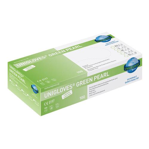Unigloves Groene nitril handschoenen Green Pearl p.doosje a 100