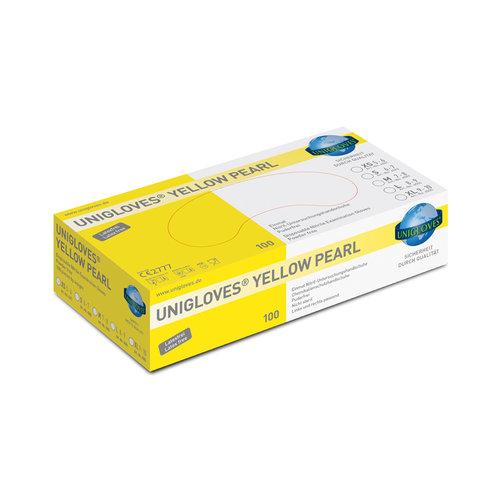 Unigloves Gele nitril Pearl Yellow handschoenen