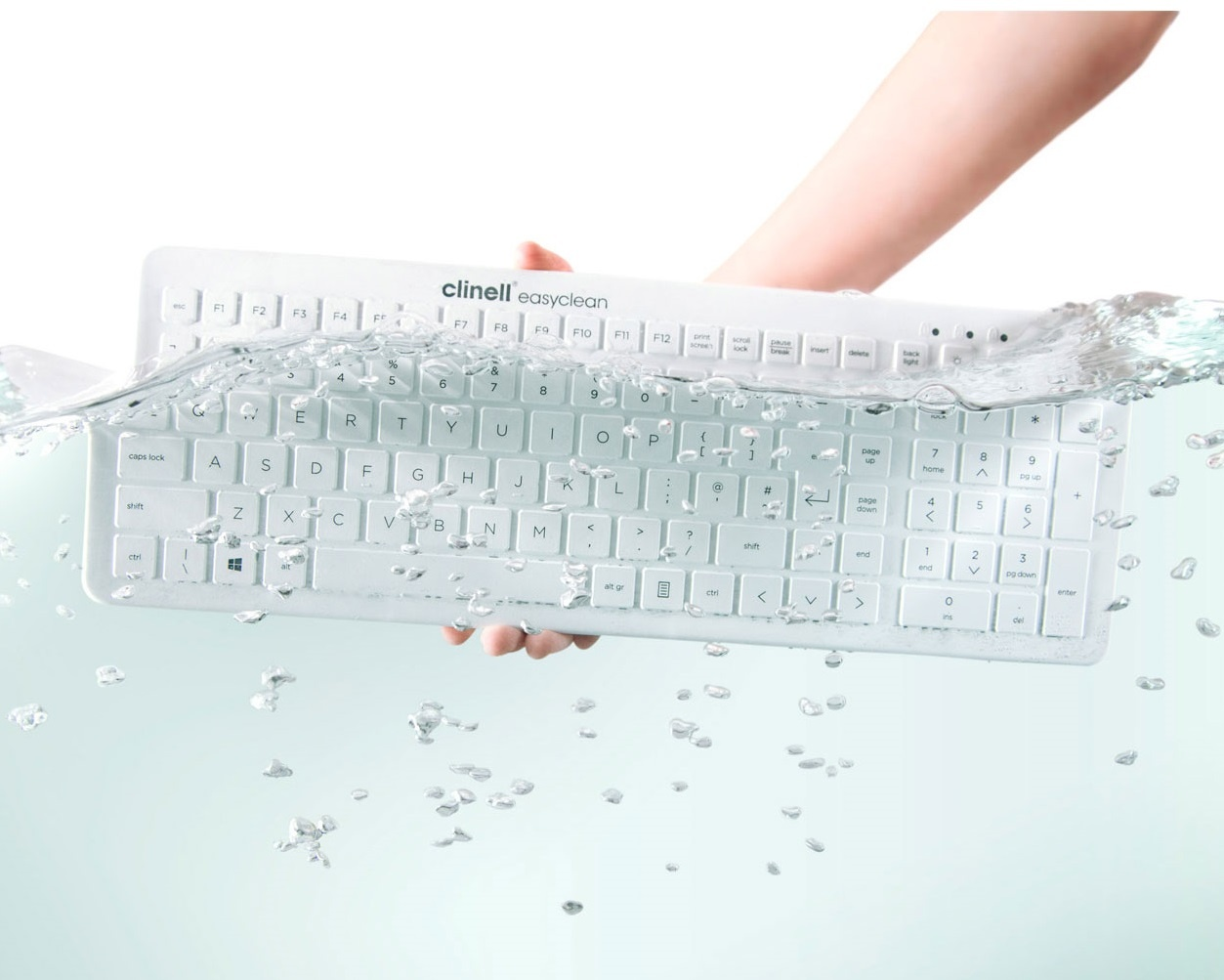 Easyclean Siliconen Toetsenbord - zwart of wit