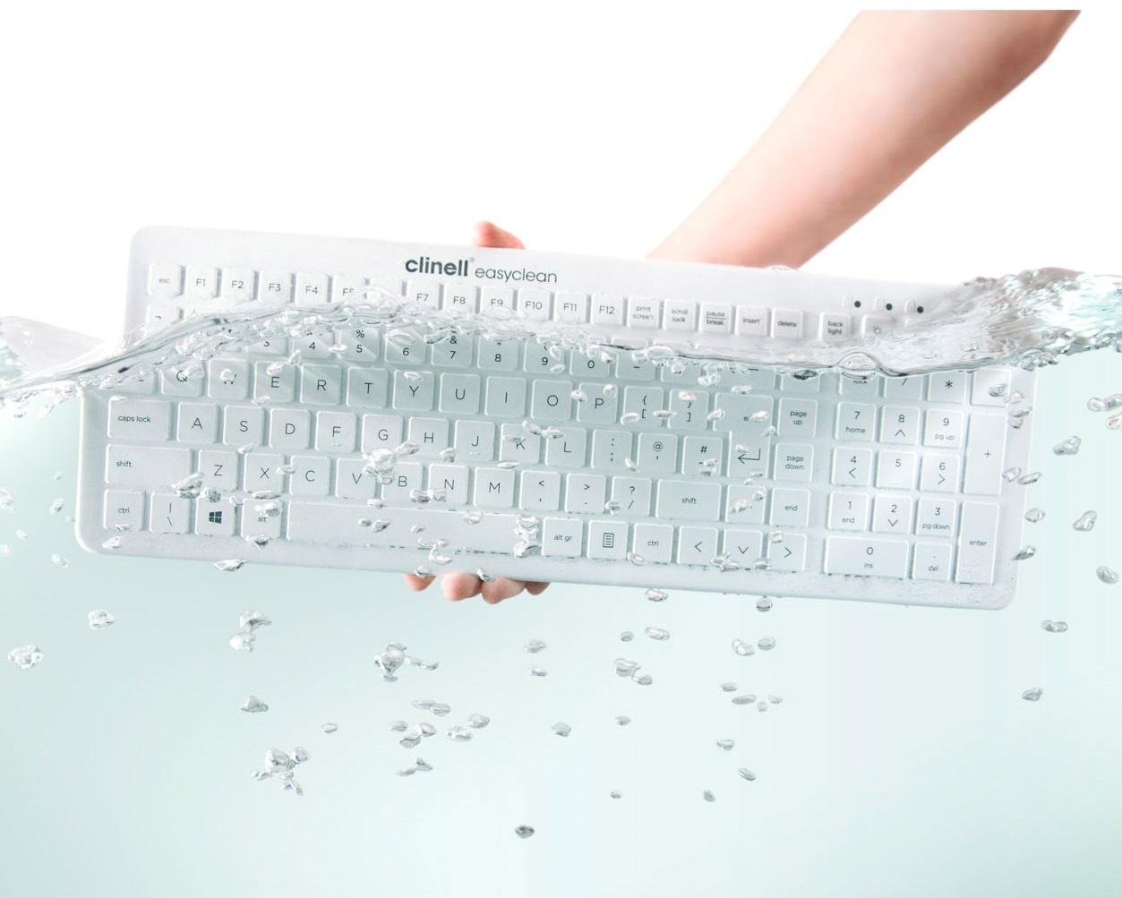 Easyclean wasbaar  toetsenbord - zwart of wit