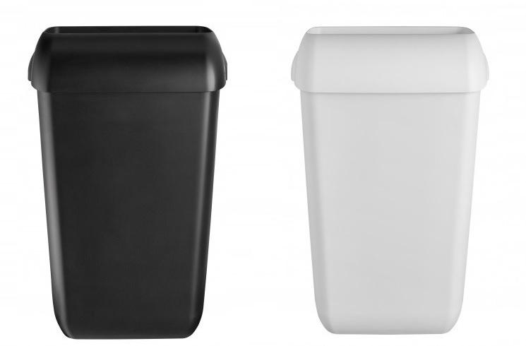 afvalbak 23 liter kunststof open met losse deksel