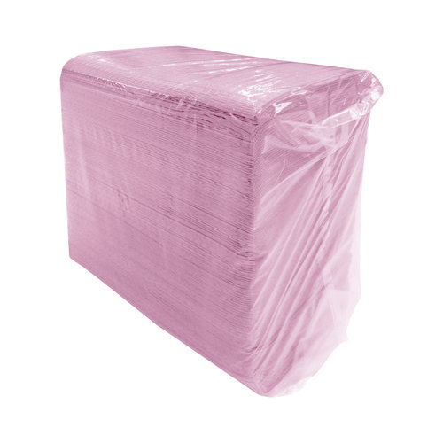Teqler Dental Bib patientservetten 2 laags 500st oa lila en roze