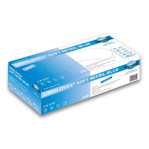 Unigloves 200 Soft Nitril handschoenen ECO poedervrij latexvrij thiuramvrij
