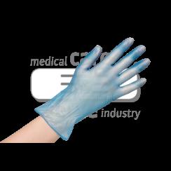 10x 100 blauwe vinyl handschoenen Premium