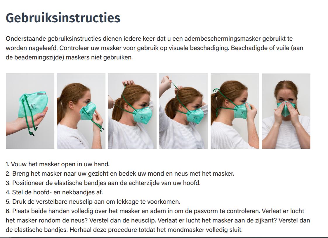25x FFP2 premium mondmasker zonder ventiel